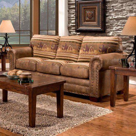 American Furniture Classics Wild Horses Sofa Walmart Com Lodge Sofa American Furniture Living Room Collections
