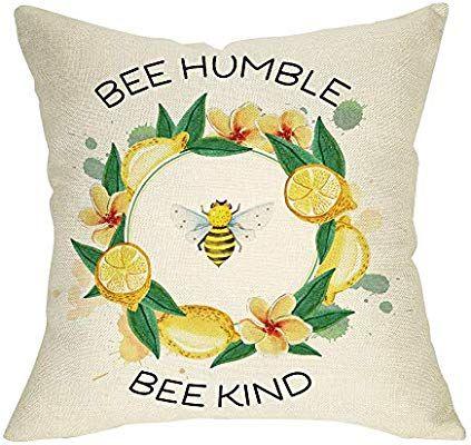 Bee wreath Linen Cushions Cover Sofa Throw Pillow Case