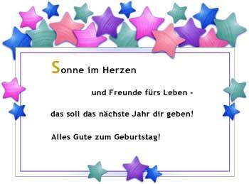 Geburtstags Glueckwunsch Spruch Sonne Im Herzen Spruche