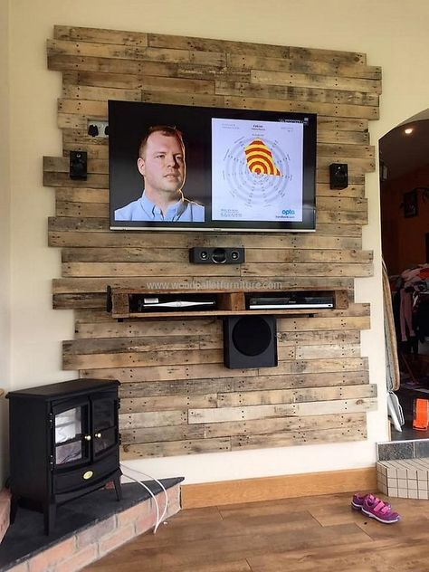 21 Diy Tv Stand Ideas For Your Weekend Home Project Pallet Furniture Tv Stand Diy Pallet Wall Pallet Projects Furniture
