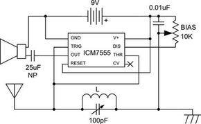 Am Radio Built Around Lm555 Radio Design Diy Electronics Ham Radio