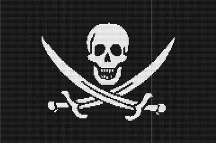 Pirate Flag Loom Bead Tapestry Wall Hanging Pattern Delicas Seed Bead