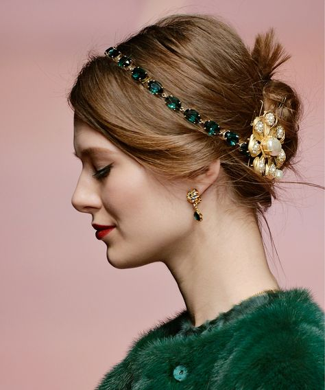 Pin for Later: This Autumn a Hairband Is the Only Hair Accessory You Need Dolce … - Haarschmuck