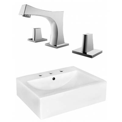 Bissonnet Comprimo Ceramic Specialty Wall Mount Bathroom Sink With Overflow Wayfair Rectangular Sink Bathroom Wall Mounted Bathroom Sinks Sink