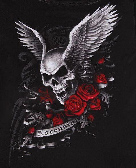 skull & wings as a tattoo