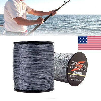 500M Black 6lb-100lb Super Power Dyneema PE Braided Fresh//Saltwater Fishing Line