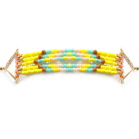 What a fast way to create a faux loom bracelet