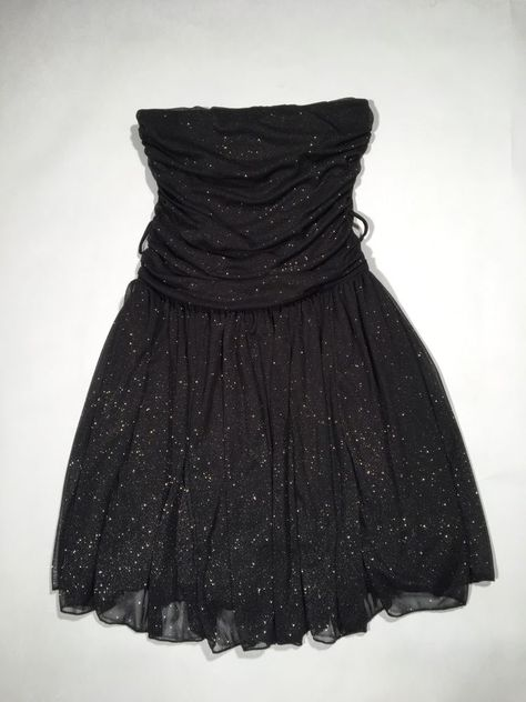 ab215451f LA BELLE JUNIORS DRESS BLACK & SILVER GLITTER STRAPLESS & SLEEVELESS SIZE S  #fashion #clothing #shoes #accessories #womensclothing #dresses (ebay link)