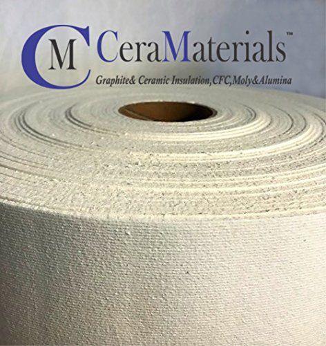 Ceramaterials Kiln Shelf Liner Ceramic Fiber Paper Standard Grade 1 8 X24 X10 Ceramic Fiber Ceramic Insulation Shelf Liner