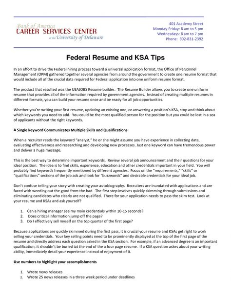 Federal Resume Key Words  Best Opinion  Resume Interview Job