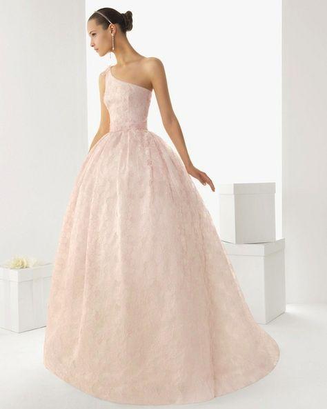 vestido de novia color rosa pastel | vestidos de novia | pinterest