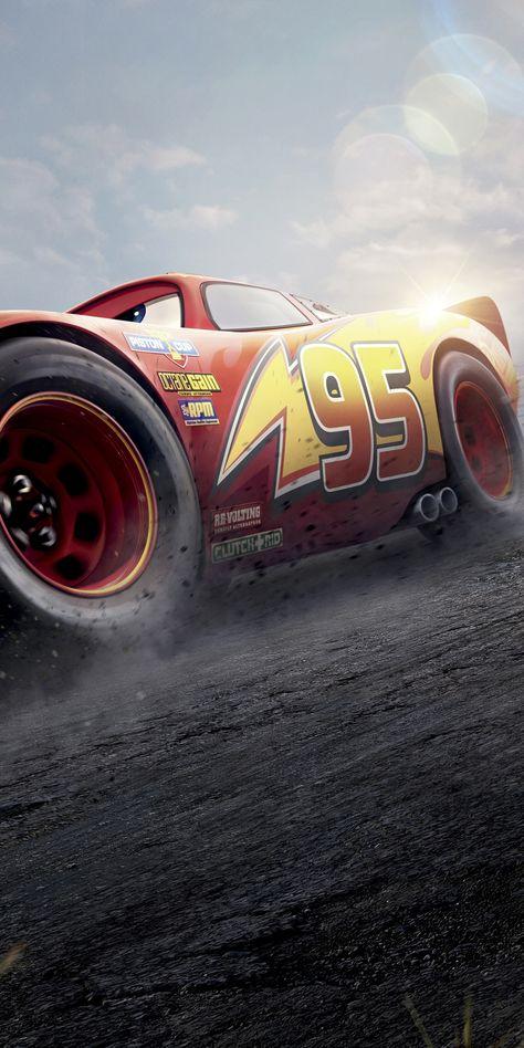 Cars 3, Red Lightning McQueen, 2017 movie, 1080x2160 wallpaper