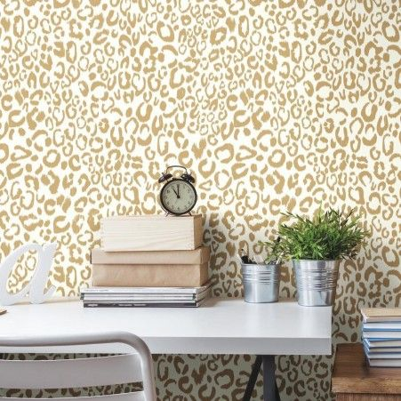 Leopard Peel And Stick Wallpaper Peel And Stick Wallpaper Decorating Solutions Decor