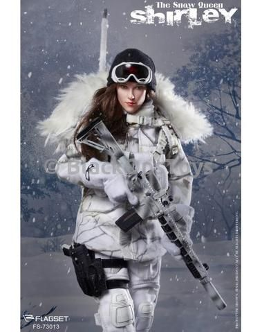White Camo Tape Shirley Snow Queen 1//6 Scale Flagset Action Figures