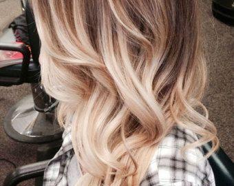 Bohemian Blonde Ombre Hair Ash Golden Blonde Ombre Hair