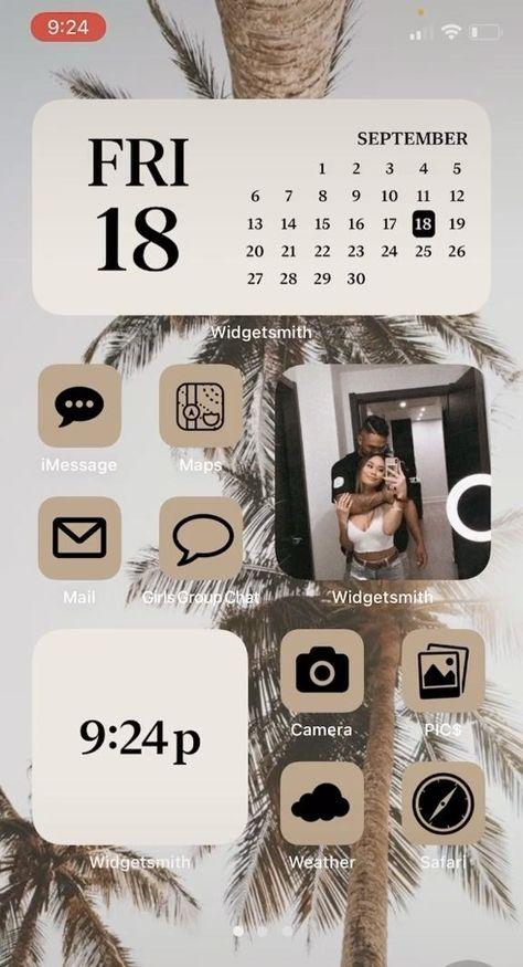 iOS14 phone aesthetic Home Screen!
