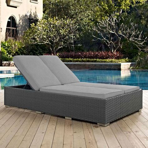 sojourn outdoor double chaise lounge multiple finish options daybeds rh pinterest fr