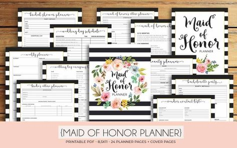 picture about Maid of Honor Printable Planner named Pinterest Пинтерест