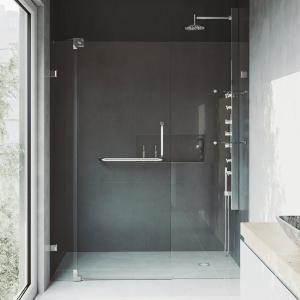 Vigo Pirouette 54 To 60 In X 72 In Frameless Pivot Shower Door