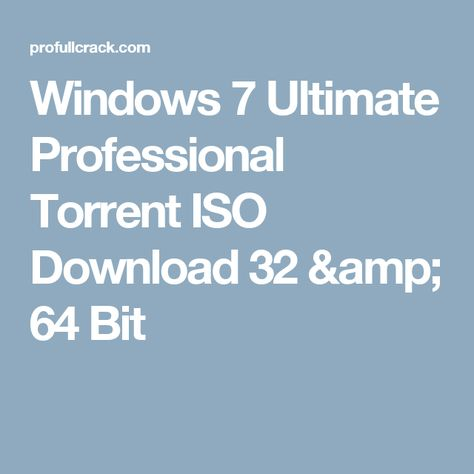 download windows 7 ultimate 64 bit with crack