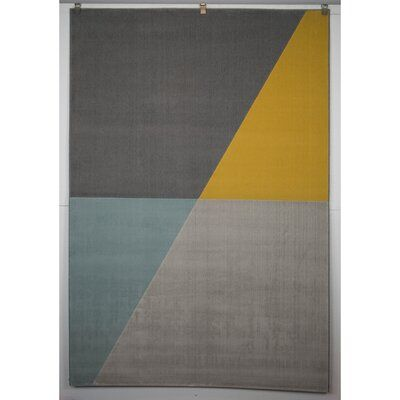 Wrought Studio Anacortes Geometric Gray Area Rug Polypropylene In Gray Silver Size 2 X 6 In 2021 Color Palette Yellow Colours That Go With Grey Grey Color Palette