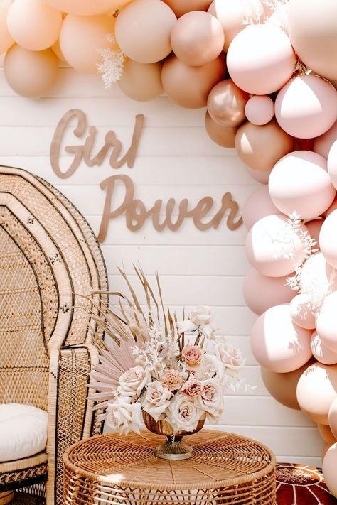 Baby Girl Shower Themes, Boho Baby Shower, Baby Shower Pink, Baby Girl Shower Decorations, Best Baby Shower Gifts, Baby Shower Favors, Baby Shower Invitations, Baby Shower Backdrop, Baby Shower Balloons