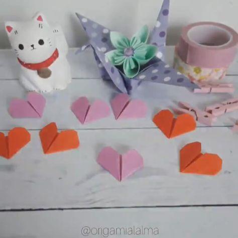 El corazón más fácil de origami. Si querés aprenderlo más lento visitá mi canal de YouTube