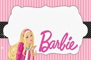 Free Barbie Doll Invitation Card Invitaciones De Barbie