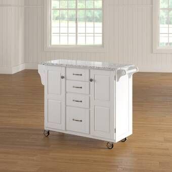 Hardiman Kitchen Cart With Wood Top Reviews Birch Lane Kitchen Island With Granite Top Luxury Kitchen Island Kitchen Cart