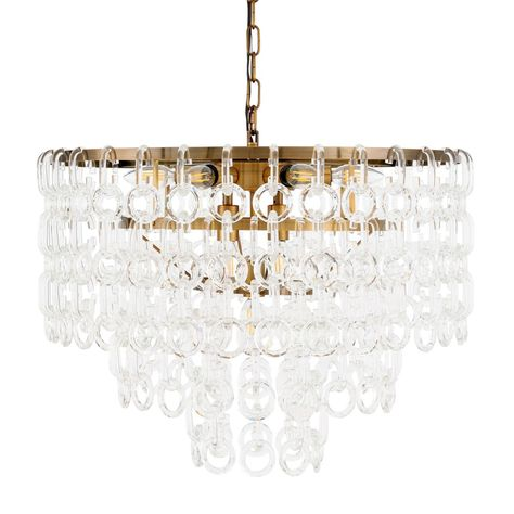 Elegant Lighting 1713d24 Debutante 9 Light 24 Wide Crystal