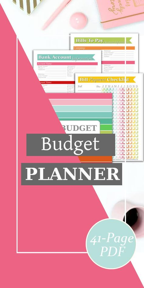 The Budget Planner Kit was created with YOU in mind. It contains everything that you need to take control of your finances and reach your financial goals.