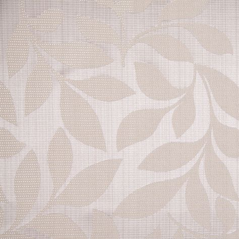 Beige Satiny Woven Leaves Jacquard