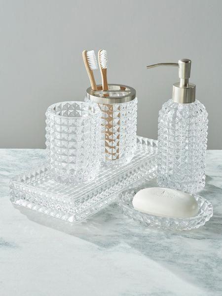 Deco Glass Bath Accessory Collection Glass Bathroom Bath Accessories Diy Bathroom