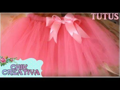 d901fd079 DIY: Como hacer TUTUS a maquina de coser (PARTE 1) - YouTube | Tip ...