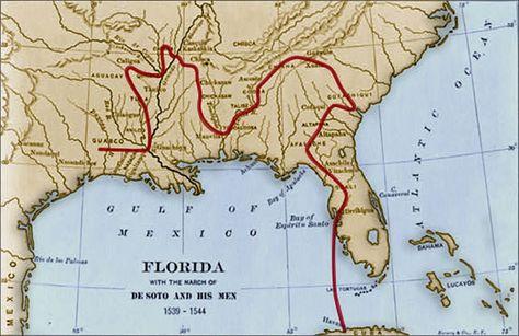 DeSoto Expedition Map | Hernando de Soto Expedition