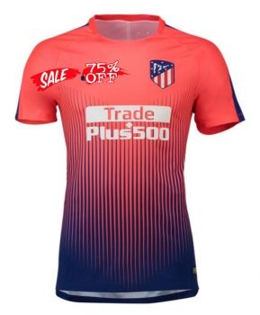 factory authentic 4139b f58fe 2018-19 Cheap Pre-Match Jersey Atletico Madrid Replica ...