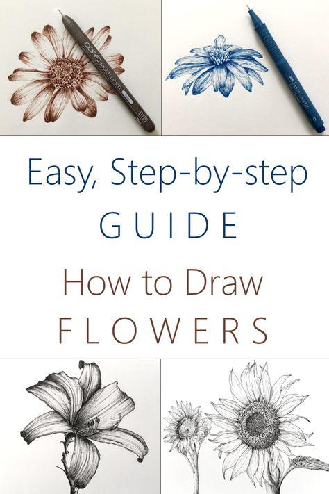 Easy Doodles Drawings, Pencil Art Drawings, Art Drawings Sketches, Drawing Lessons, Art Lessons, Simple Art, Art Techniques, Art Tutorials, Diy Art