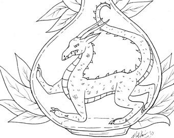 Bottled Drake Coloring Page Digital Download Printable Adult