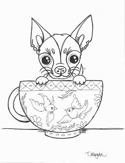The Lost Sock April 2018 Chihuahua Drawing Dog Coloring Book Chihuahua Art