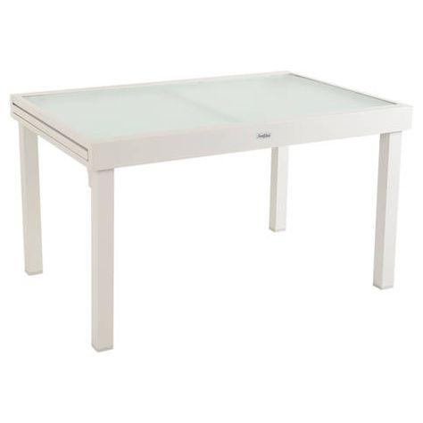 Salon De Jardin Aluminium Table 150cm 6 Fauteuils En Textilene Gris ...