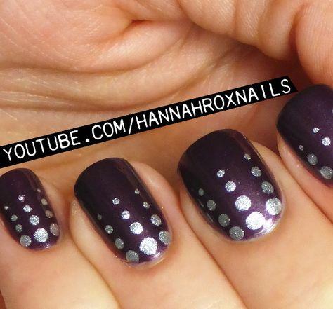 Easy Dot Nail Art- hannaroxnails