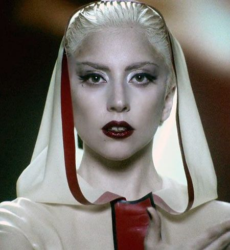 FOTD: Lady Gaga Alejandro Inspired Neutral Eyes With Red Lips Makeup Look on http://makeupforlife.net