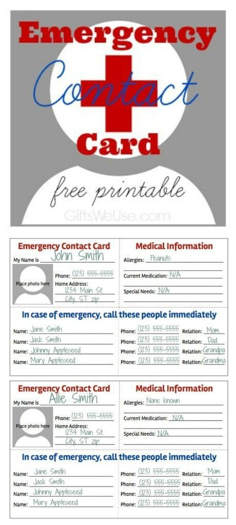 Emergency Medical Card Template 32 Best Images About Printables Medical Forms Fitness On Emergency Binder Contact Card Family Emergency