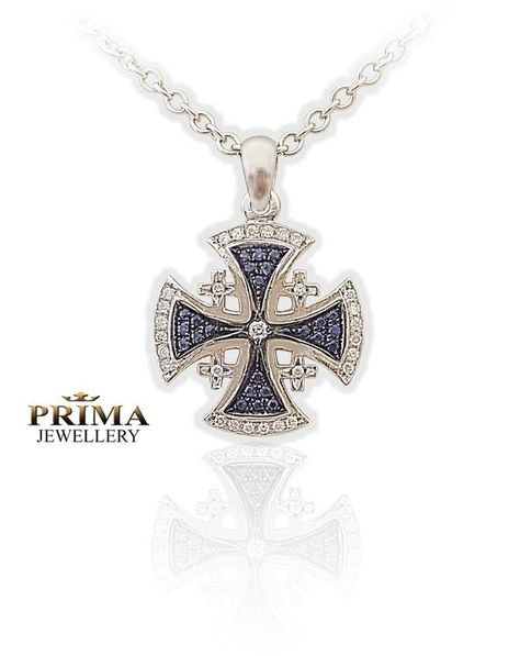 Hey, I found this really awesome Etsy listing at https://www.etsy.com/il-en/listing/662072738/jerusalem-cross-pendantsapphire-and
