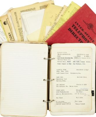 Elvis Presley personal Address Book with documents