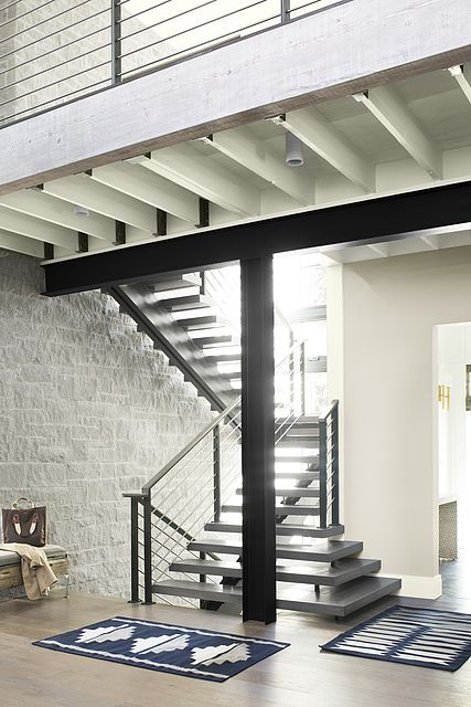 Wall Color Pale Oak Trim Color Cloud White Interior Design