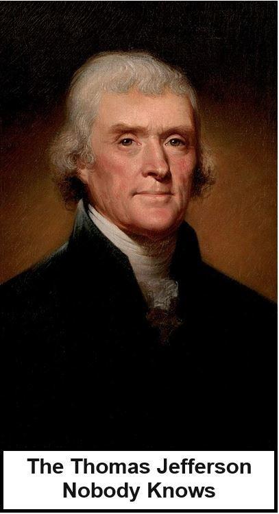 The Thomas Jefferson Nobody Knows Thomas Jefferson Vintage Postcards Postcard