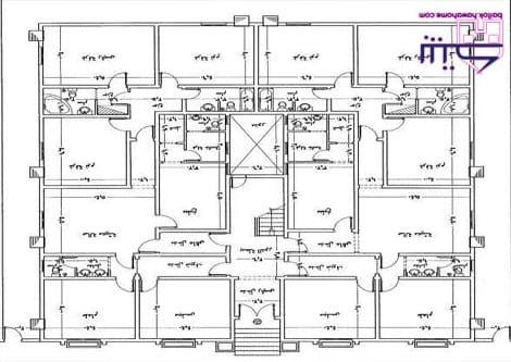 مخطط عماره شقتين ٥ غرف و صاله 20x30 House Plans House Plans Design