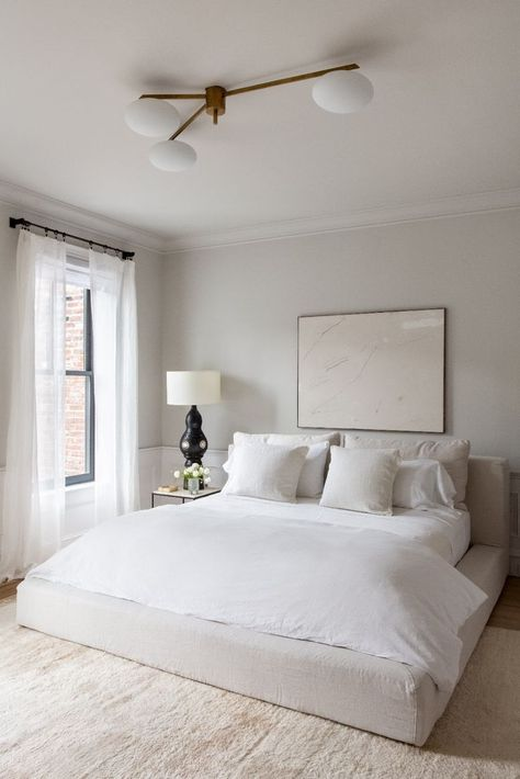 neutral cozy bedroom #home #style