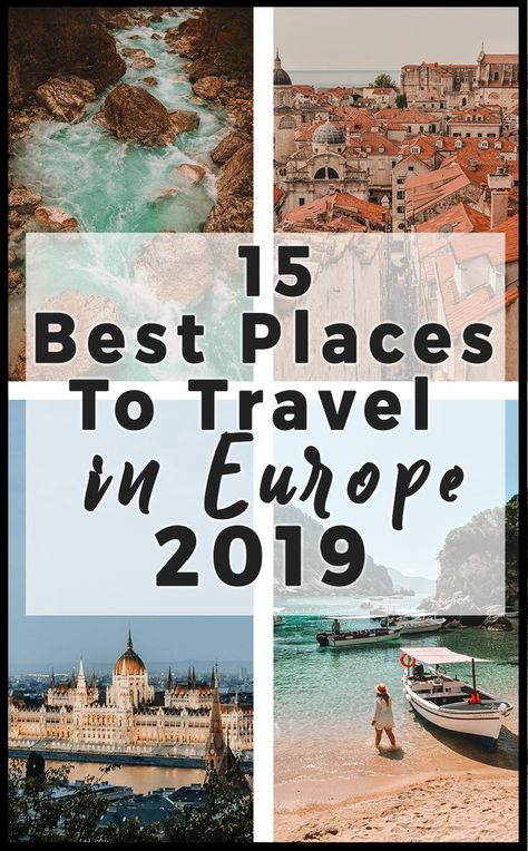 Looking for inspiration for your next trip? Here are the best places to travel in Europe for 2019! From lush landscapes, thriving cities, and decadent food, you'll find some of the best hidden gems and must-see places in all of Europe. Find out what I picked for the best places to travel in Europe after living here for 3 years.